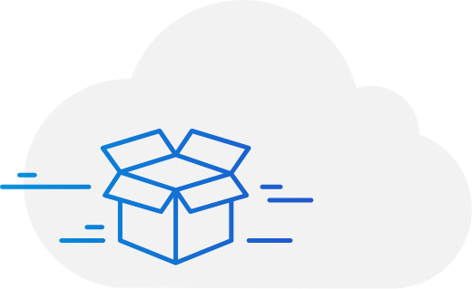 Cloud with box